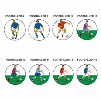 Footballer pk of 5 25mm centres-